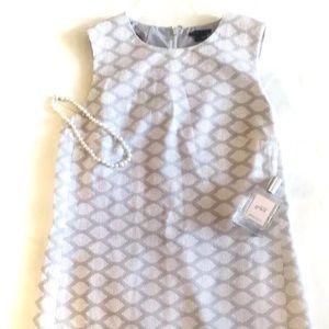 Theory Mayberry Shift 2 Jacquard Sheath Dress.